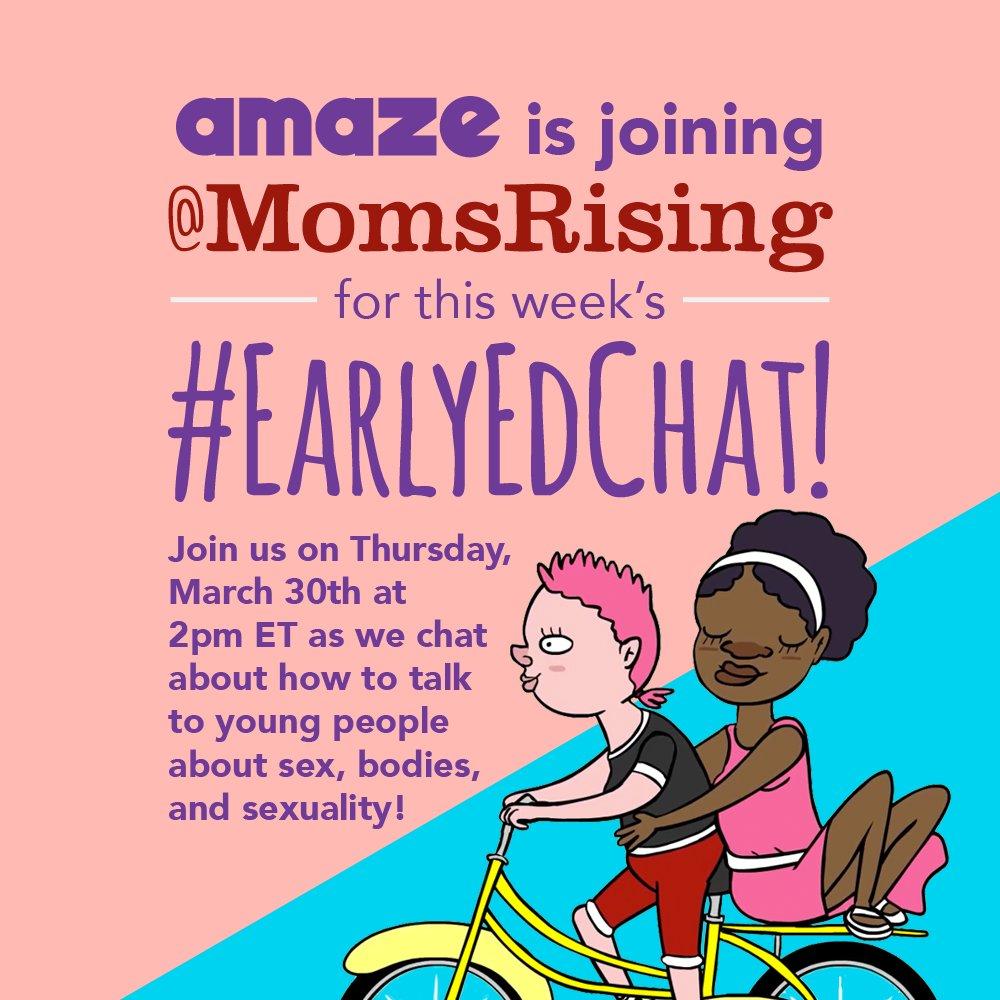 Thumbnail for #EarlyEdChat 3/30/2017 - MomsRising & AMAZE