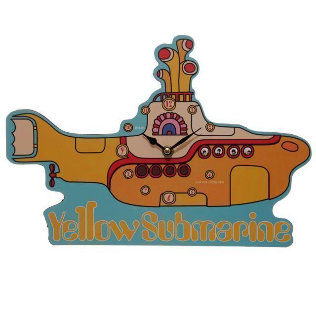 Beatles Yellow Submarine Wall Clock. Visit &gt;&gt;   http:// buff.ly/2hwBIua  &nbsp;   #TheBeatles #87RT <br>http://pic.twitter.com/WWNdG1KuTT