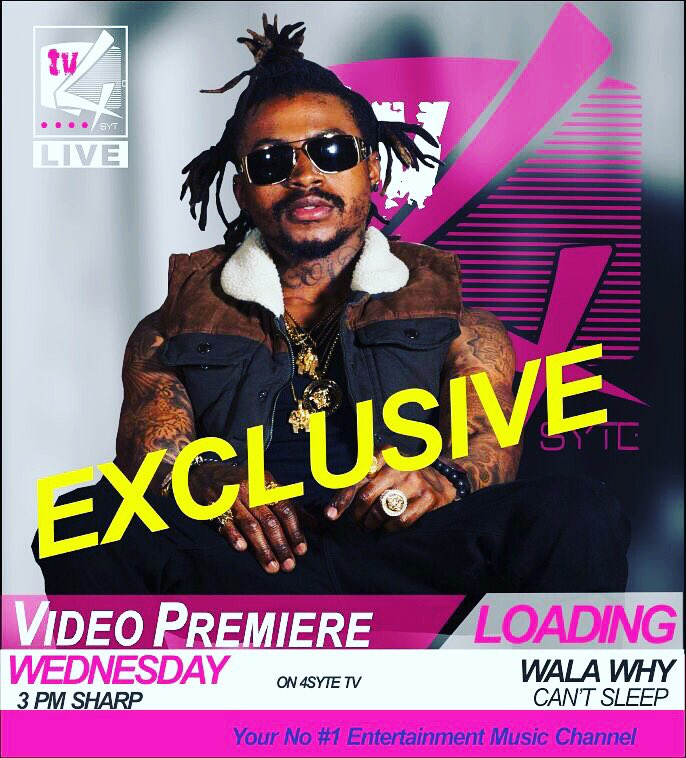 Video Premiere @wala_why Can't Sleep tomorrow @ 3pm on your n# 1 music channel https://t.co/HxiHdbWhKw