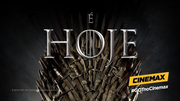 Às 22h, começa a guerra pelo trono mais cobiçado dos Sete Reinos. #GOT...
