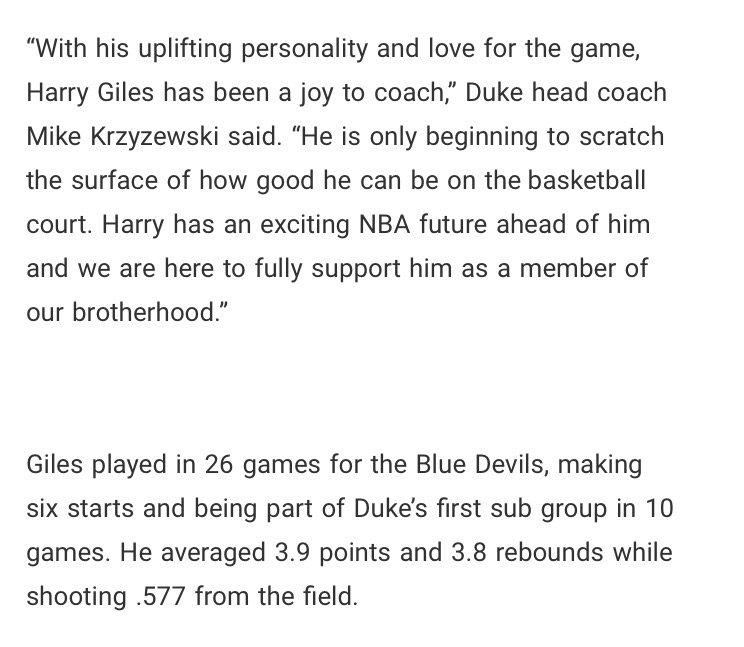 Duke's Harry Giles officially enters the NBA Draft. https://t.co/VSloY...