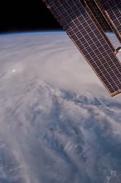 The space station crew captured Tropical Cyclone Debbie from space as...