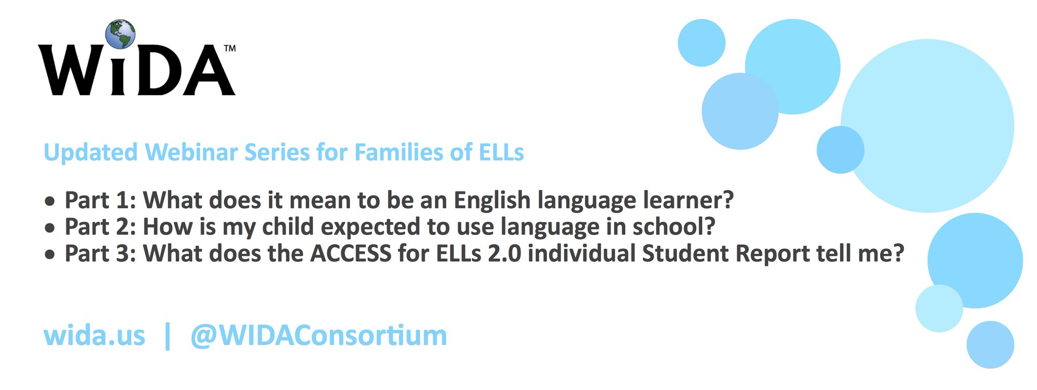#WIDA has published 3 new #webinars to help equip families to better engage in their #ELLs #education. Find them at https://t.co/QzRD5mVk5u https://t.co/dOxGfO210X