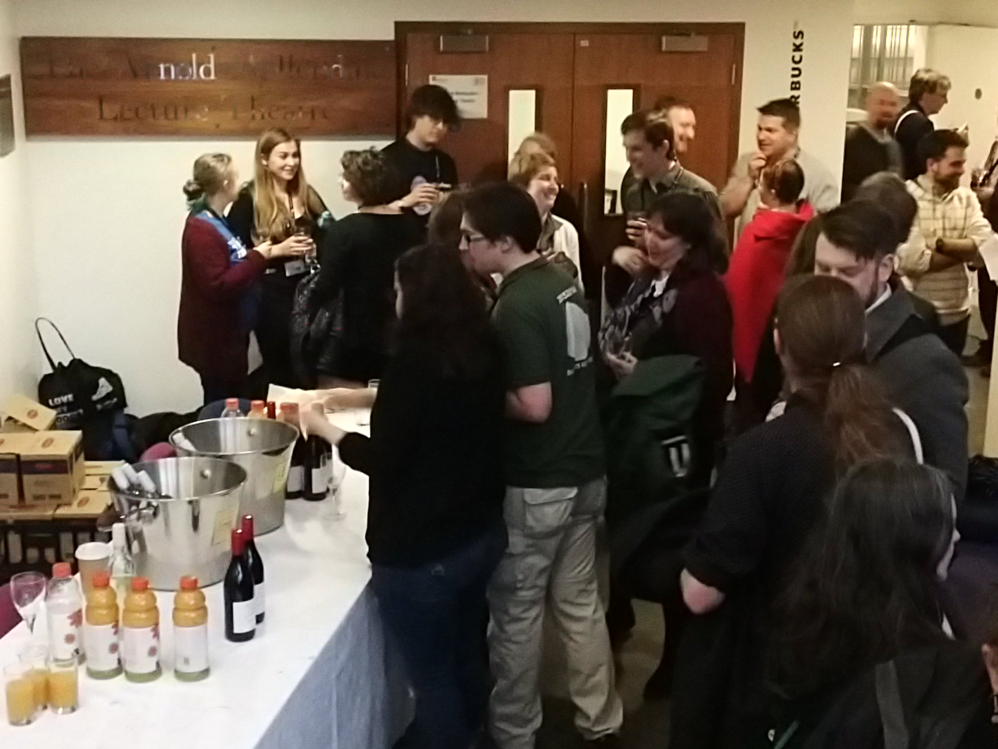 Enjoying wine reception at #TRACDurham after Hella Eckardt's great keynote paper! https://t.co/qRFx5Cp0zs