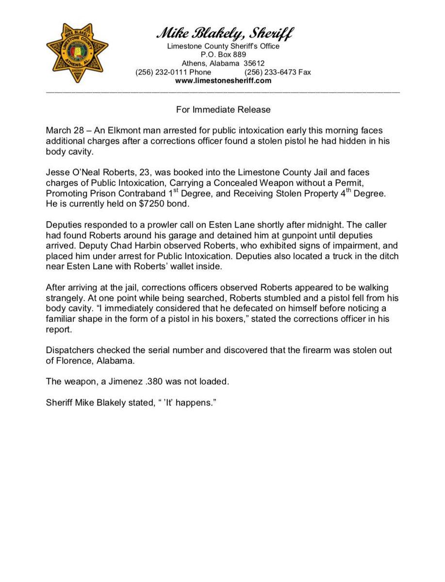 Limestone Sheriff on Twitter: