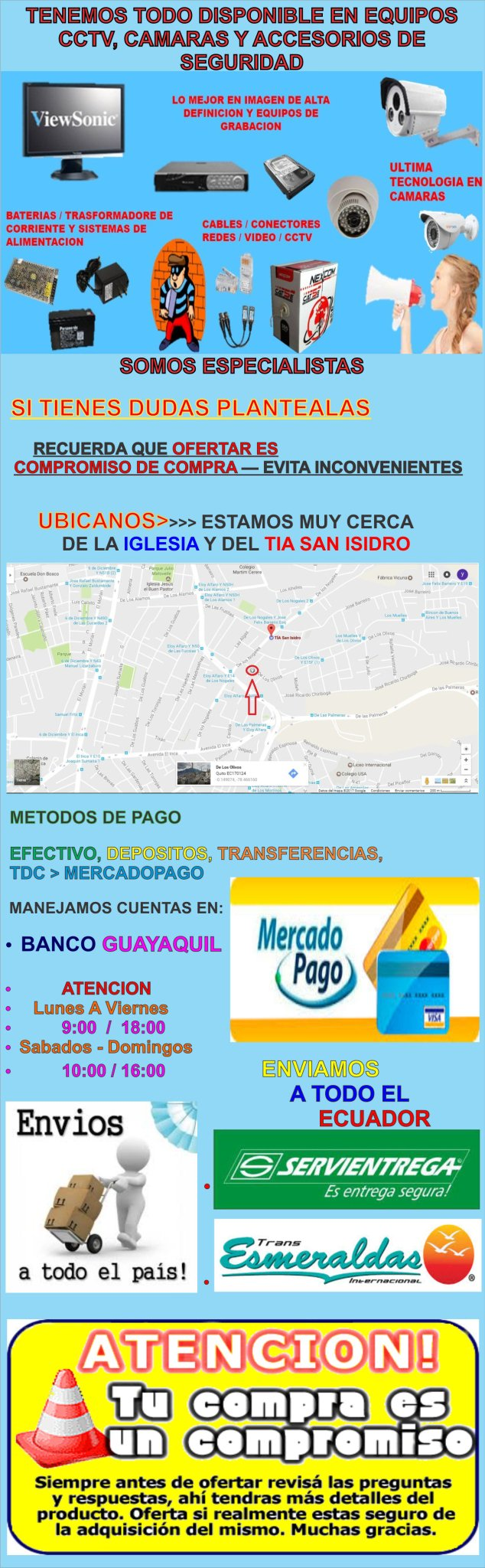INFORMACION FORMA PAGO Y ENVIO