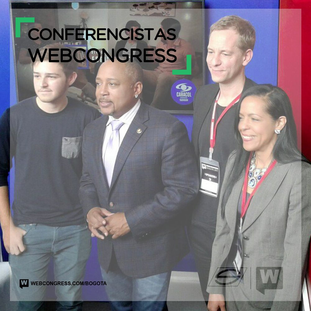 Conferencistas #WebCongress @TheSharkDaymond @larssilberbauer @michaelsayman @ElianneRamos https://t.co/qPYaGtC7Ra