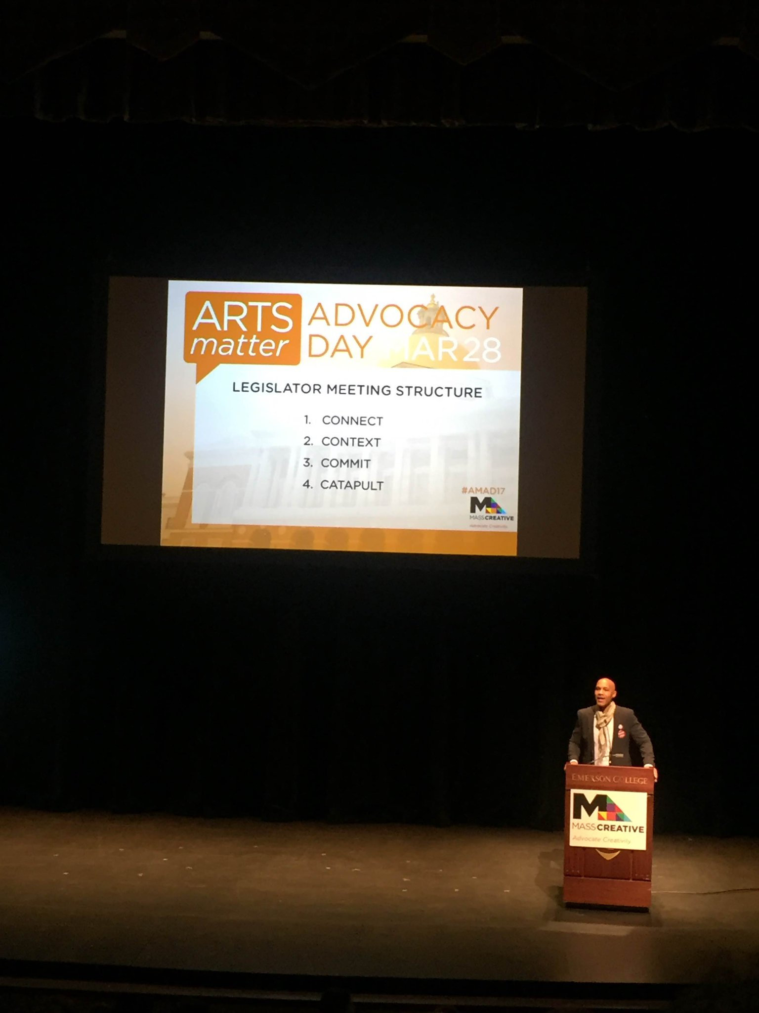 """Every American has a right to creativity, without question."" Wise words from David Howse of @ArtsEmerson at #AMAD17 with @MASSCreative. https://t.co/wcz4zfyNLm"