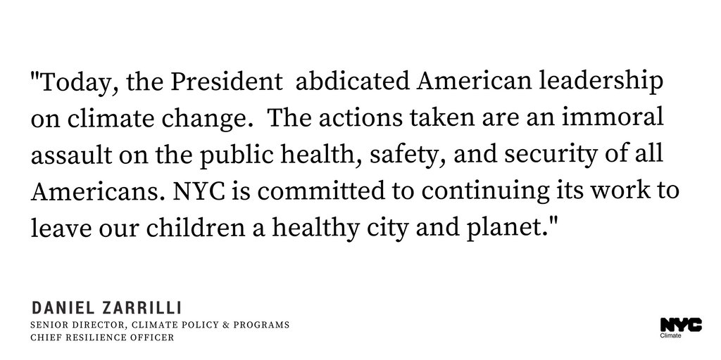 Cities and states are key to deliver inclusive climate action. Now our actions are more important than ever #OneNYC https://t.co/NwRRGMOEJJ
