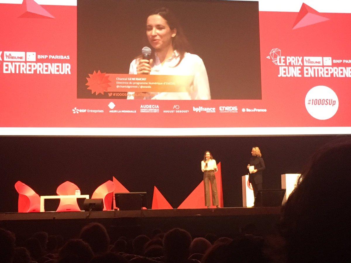 .@chantalgnrmnt va maintenant remettre pour Enedis le Prix jeune entrepreneur @LaTribune catégorie #Start #1000SUp<br>http://pic.twitter.com/nVfOhEOZbM