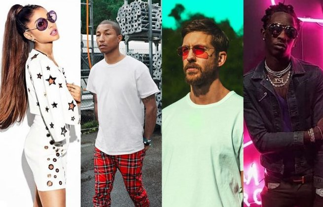 Ariana Grande, Pharrell e Young Thug se juntam Calvin Harris no single...