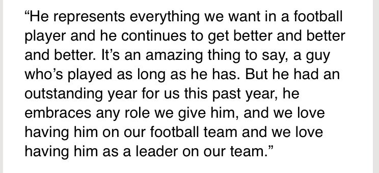 Jason Garrett on the news of Jason Witten's new four-year contract ext...