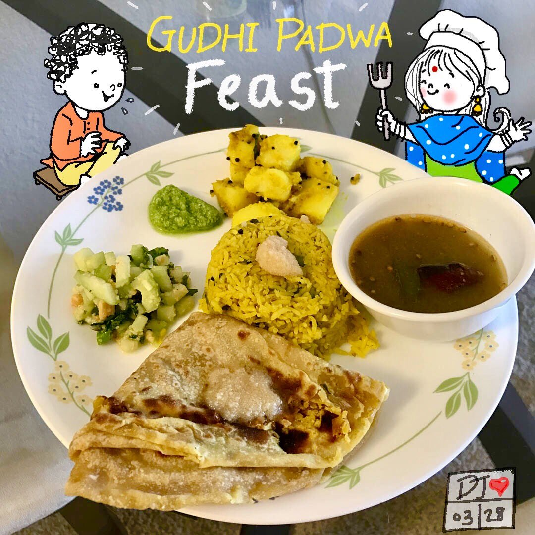 #GudiPadwa2017 special #lunch #doodle #illustration #indian #newyear #Celebration #foodie #couplekiss #PuranPoli #Feast #miheikapublications<br>http://pic.twitter.com/dPMLNjD9GJ