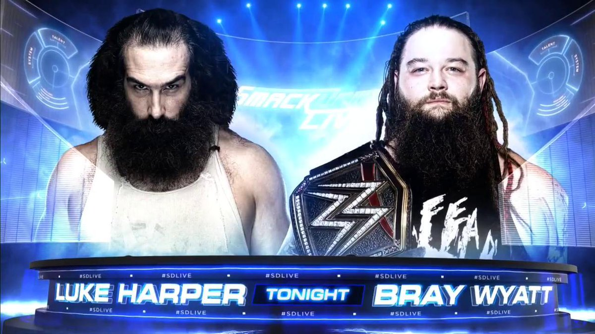 COMING UP TONIGHT: @WWEBrayWyatt faces his former apostle @LukeHarperW...