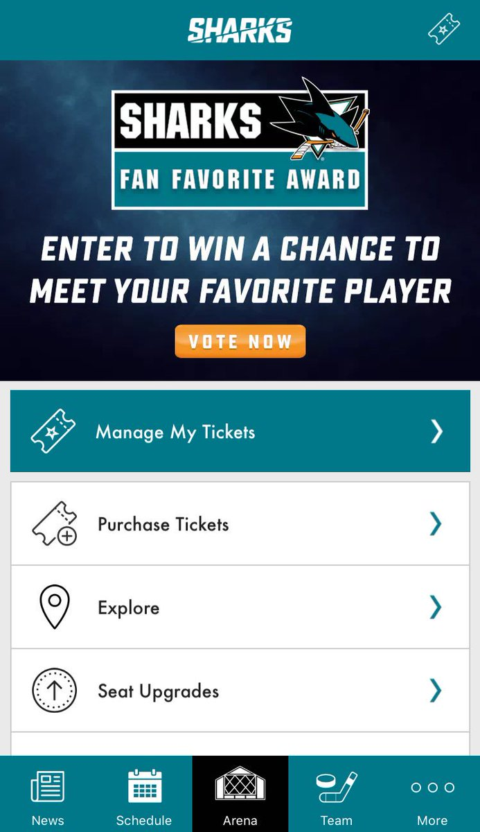 "san jose sharks on twitter: ""1. open the #sjsharks app 2. vote for"