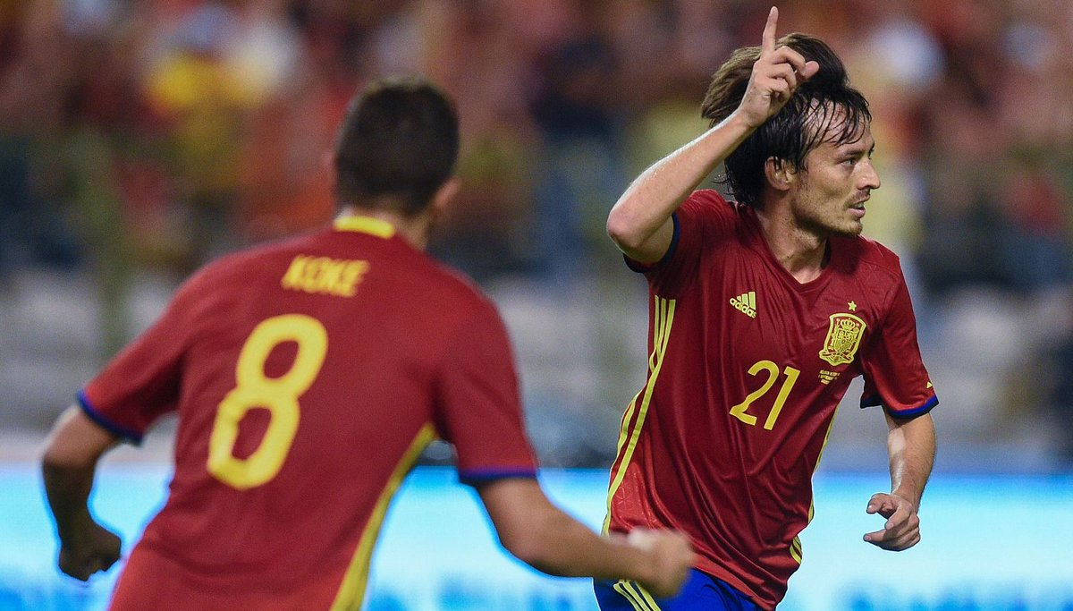 🇪🇸 David Silva's last eight games for Spain:  Goal Goal  Goal  Assist...