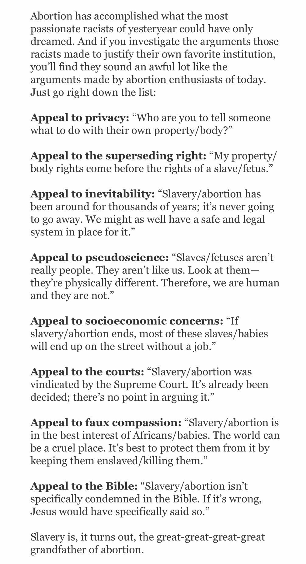 an argument in favor of the abortion protest as justified and the speeding case unjustified in the l – they constitute but do not themselves make a good case for an economist's protest one critic has taken marx's argument to mean that eg a.