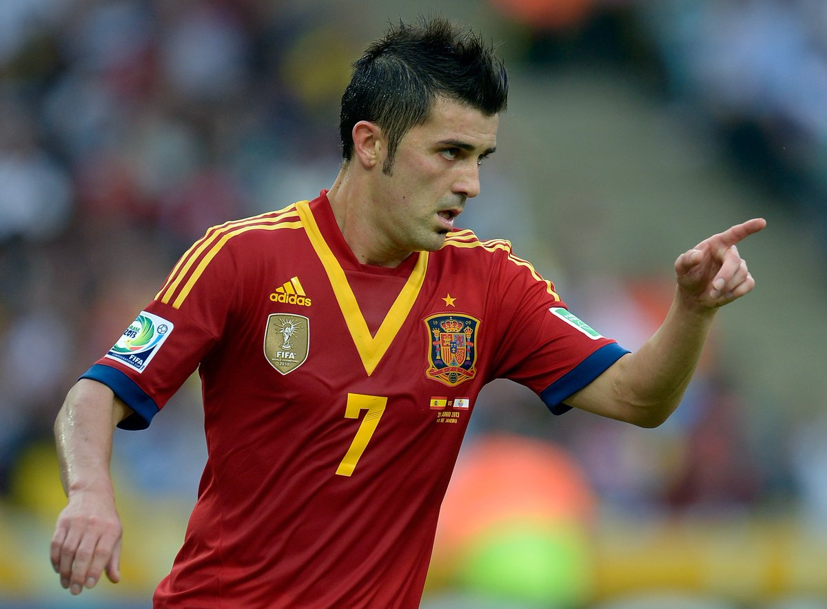 Spain's all-time top goalscorers:  1. David Villa (59) 2. Raul (44) 3....
