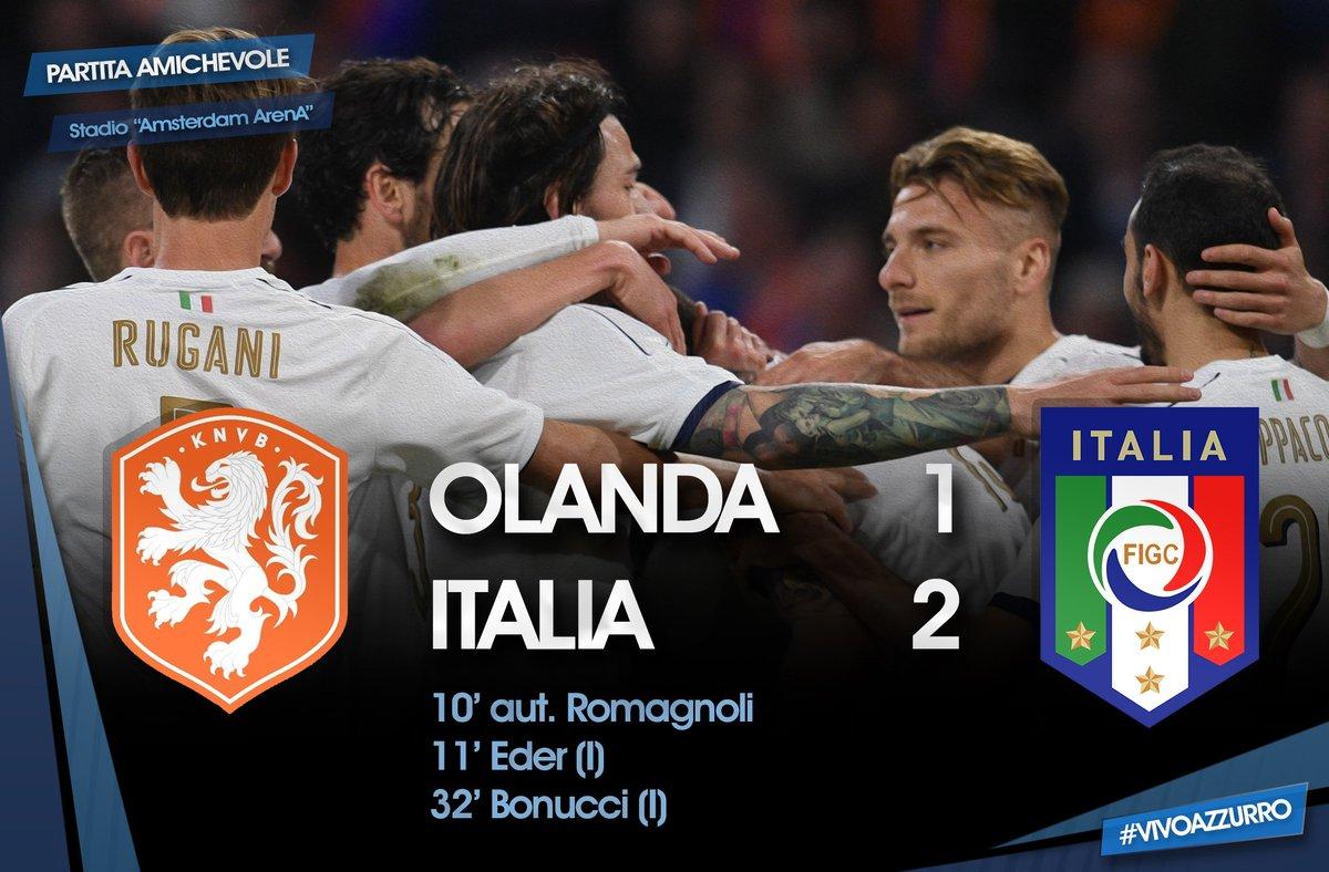 Italia di prestigio, espugnata Amsterdam: 2-1 in rimonta all'Olanda