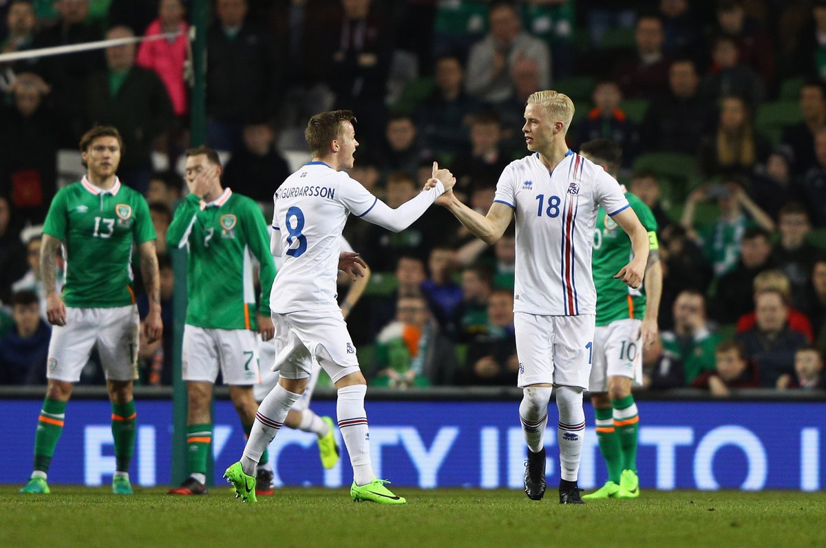 Hordur Magnússon marcó el único gol en la sorprendente victoria de Isl...