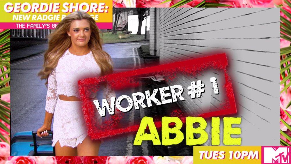 It's newbie number 1! Meet @abbie_holborn #GeordieShore https://t.co/m...