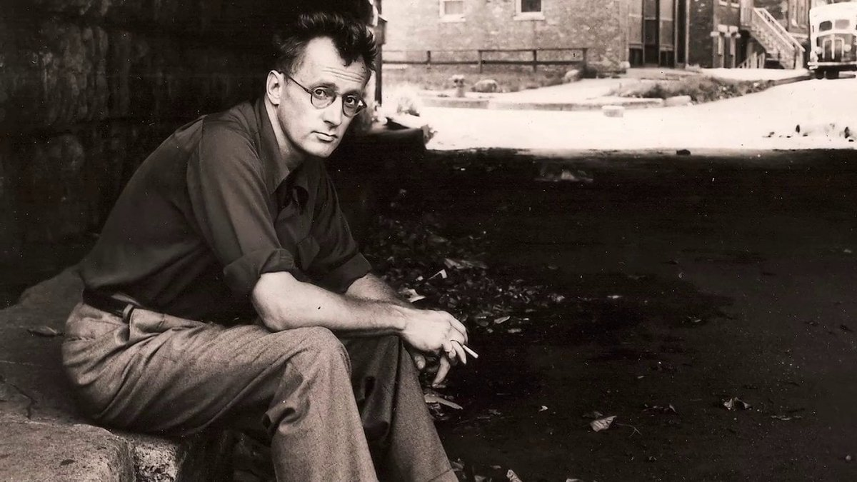 &quot;Never sleep with a woman whose troubles are worse than your own.&quot; - writer #NelsonAlgren, born today in Detroit, MI (1909-1981). R.I.P. <br>http://pic.twitter.com/WCByrU0bUx