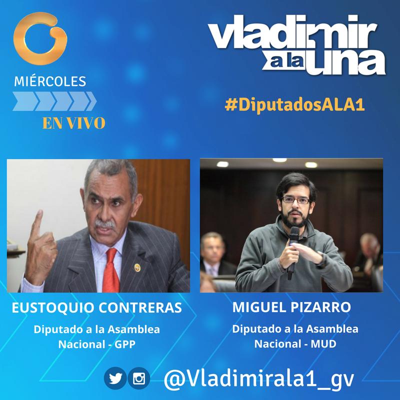 Este #Miércoles @Miguel_Pizarro y @eustoquioc serán entrevistados en @...