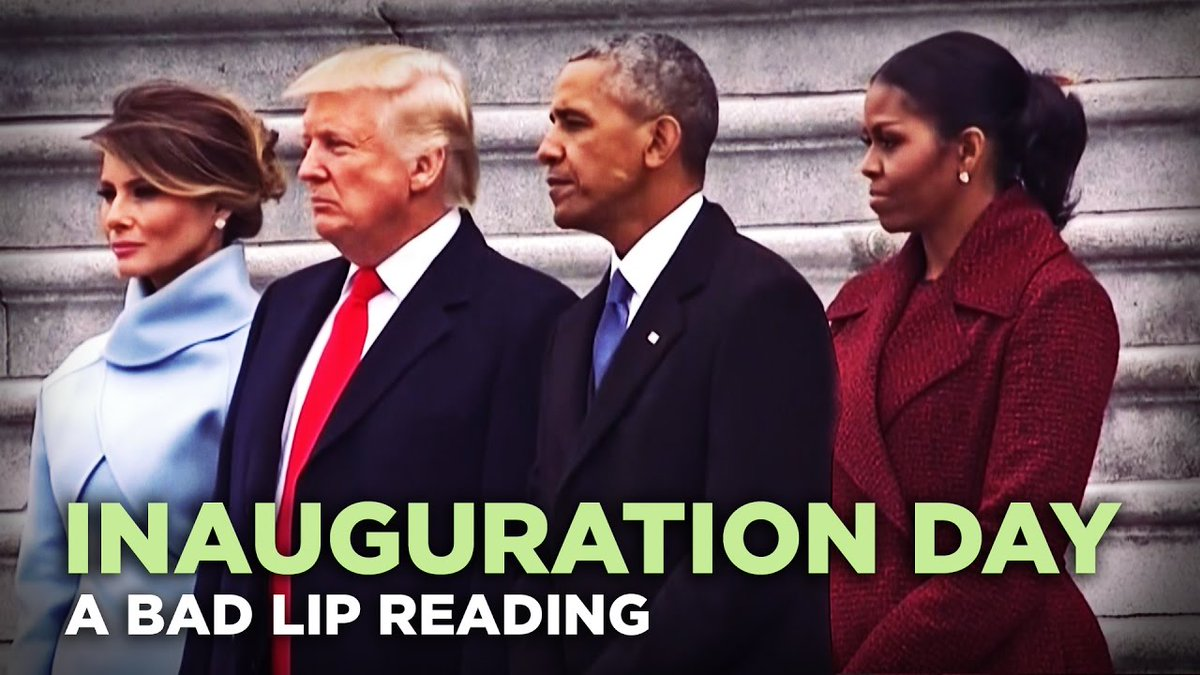 &quot;#Inauguration DAY&quot; — A Bad Lip Reading ... - #ClipTrends #VideoTrends #Tre #Barack #Bush #Comedy #Funny #Hillary  http:// xuri.co/jTIZPk  &nbsp;  <br>http://pic.twitter.com/uWtKK7ZiE3