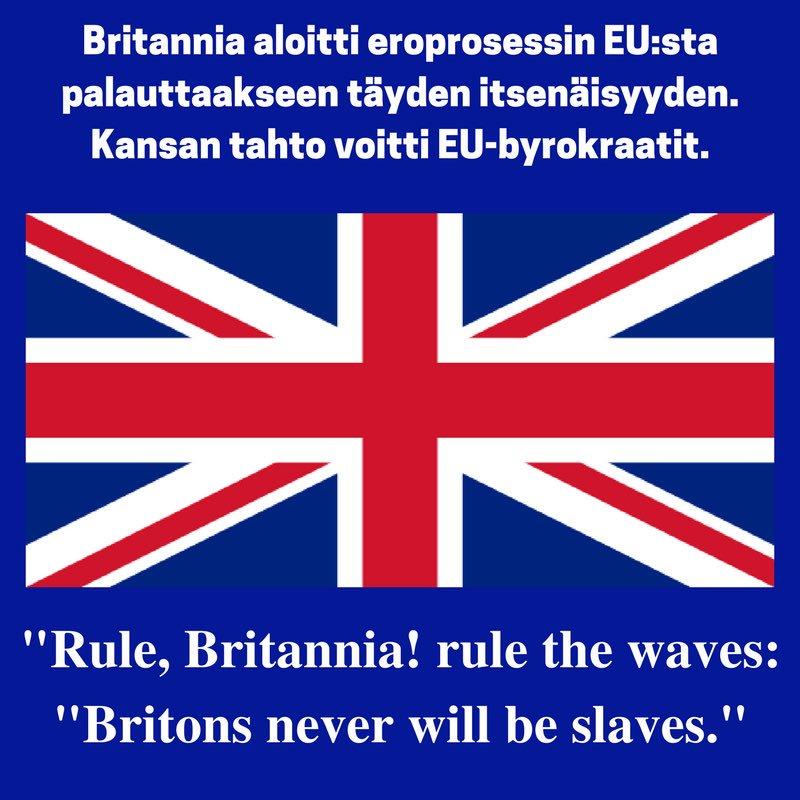 &quot;Rule, Britannia! rule the waves:&quot;Britons never will be slaves.&quot;  #brexit #fixit <br>http://pic.twitter.com/niZC4uhqqF