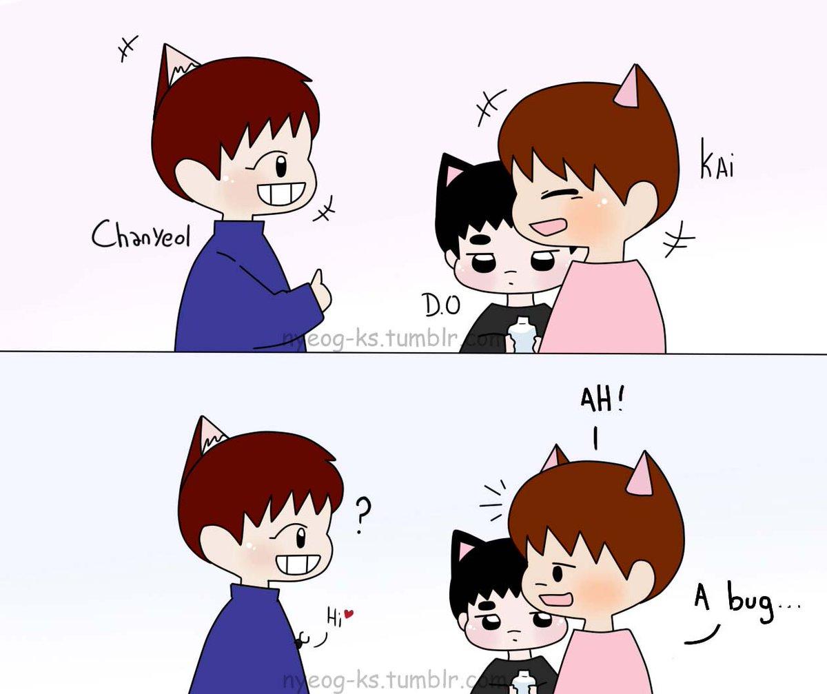 [Fanart] #kaisoo, #Chanyeol and Bug!