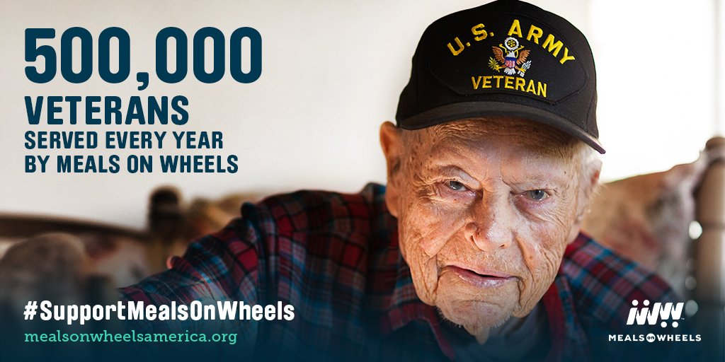 #Veterans make up 20% of all #seniors who receive #MealsOnWheels. Support our vets, #SupportMealsOnWheels:  http:// bit.ly/ProtectMOW2017  &nbsp;  <br>http://pic.twitter.com/KGlOZPbdLQ