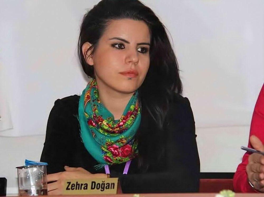 This is Zehra Doğan, an artist, a painter. Sentenced in Turkey to 2 yrs 10 mths in prison #RexTillerson @StateDept @nikkihaley, please help!<br>http://pic.twitter.com/55EgVcaJRm