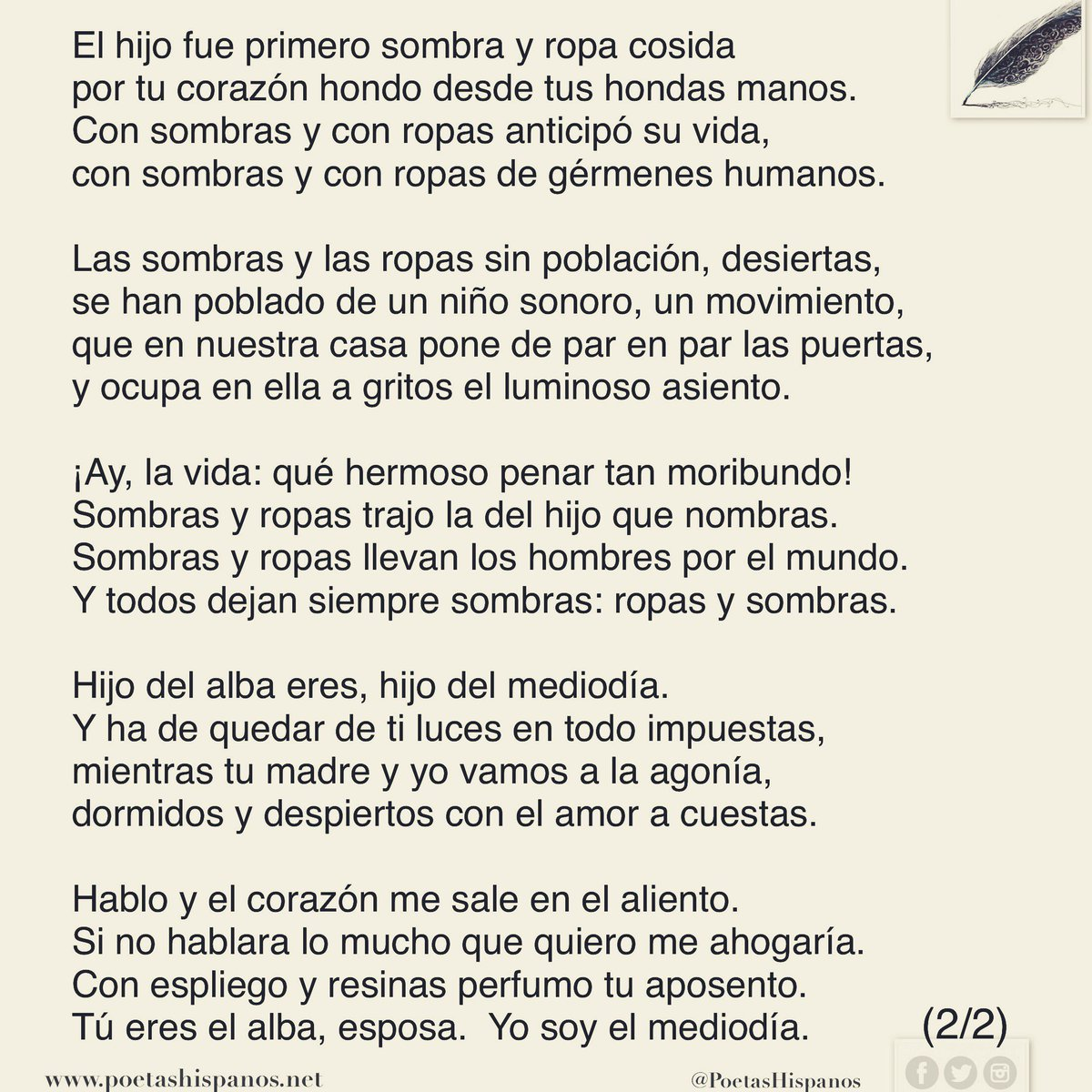 Poetas Hispanos On Twitter Hijo De La Luz Por Miguel Hernández España Poetashispanos Poemadeldía