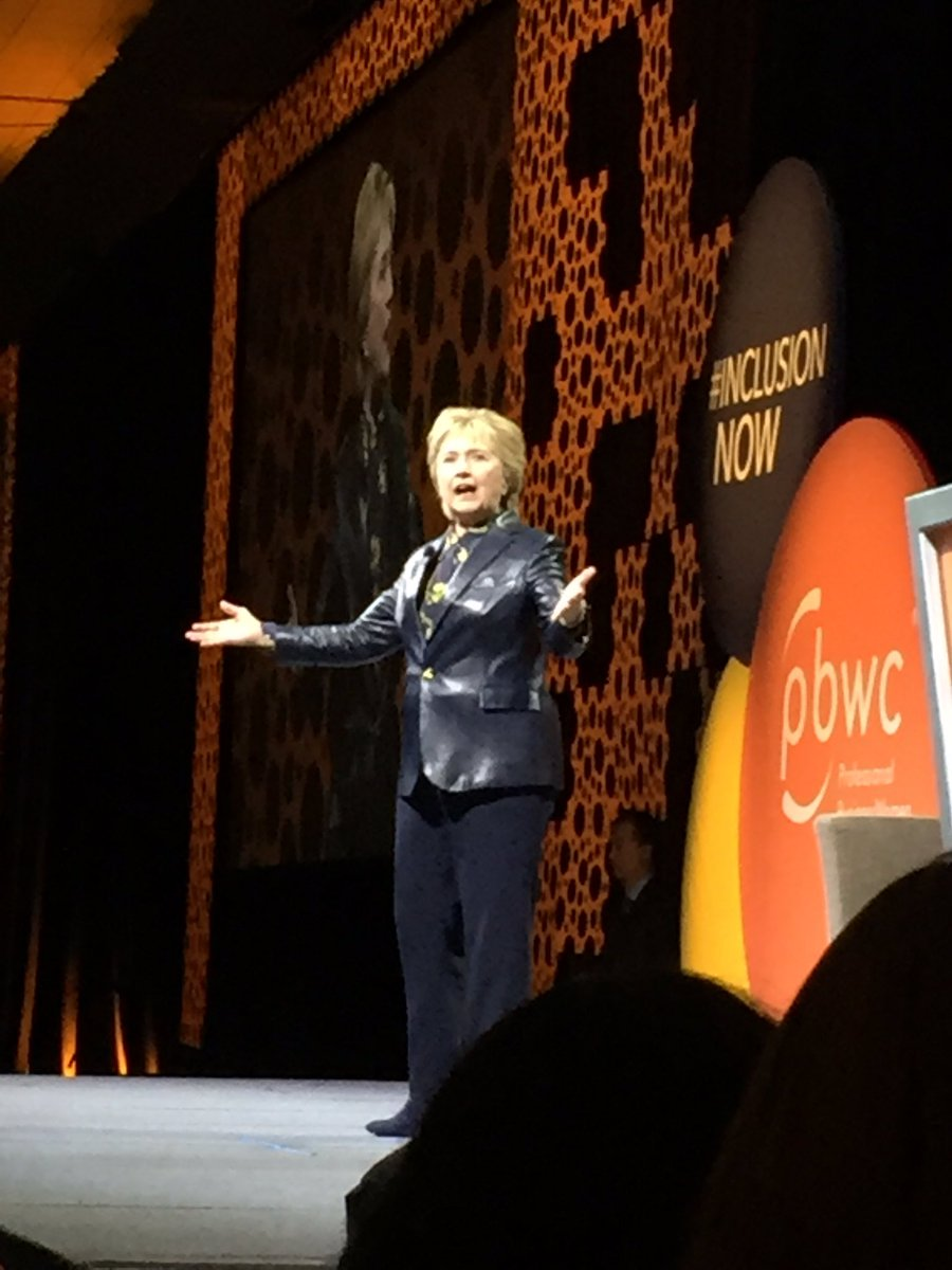 So inspired and excited to hear  #HillaryClinton &quot;...you have to just keep going&quot; @pbwc #InclusionNow<br>http://pic.twitter.com/SDFJewRald