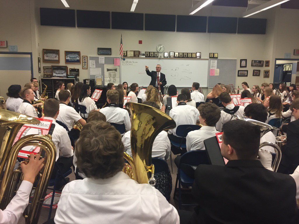 Great day making music at PMEA District 5 Freshman BandFest @travisjweller @MercerBands such great hosts! #musiced <br>http://pic.twitter.com/P86WbBFPfL