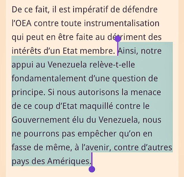 #Haïti a voté en faveur du #Venezuela à l&#39;OEA. <br>http://pic.twitter.com/796ctNtDXr