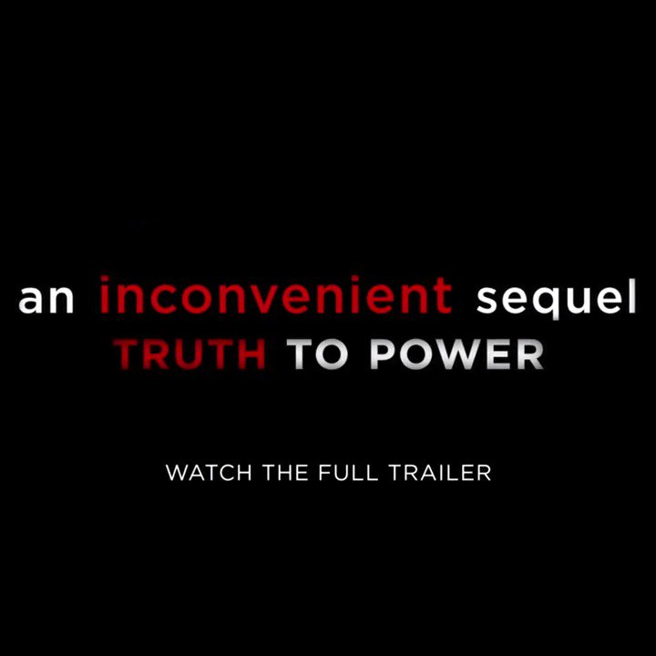 The movement continues. Please watch & share the new trailer for @aitruthfilm in theatres July 28th.#BeInconvenient https://t.co/jra1ug3Ml0