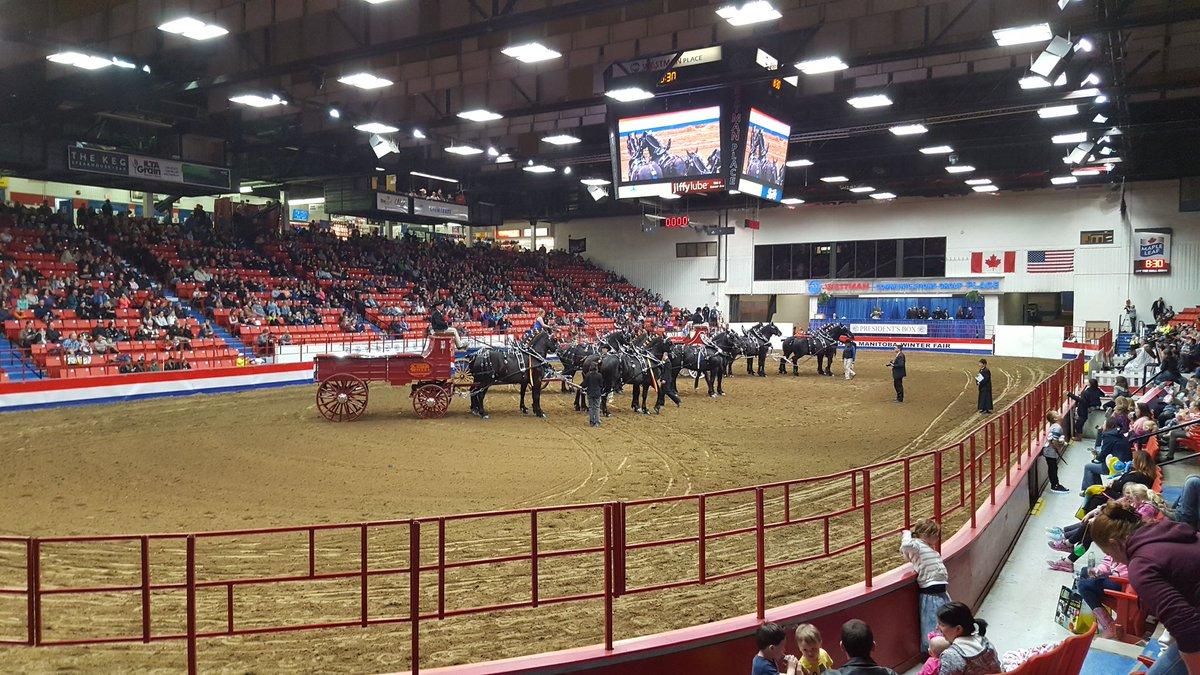 Awesome horses at #RMWF in #Brandon #Manitoba<br>http://pic.twitter.com/VRWEal4RCJ &ndash; à Keystone Centre