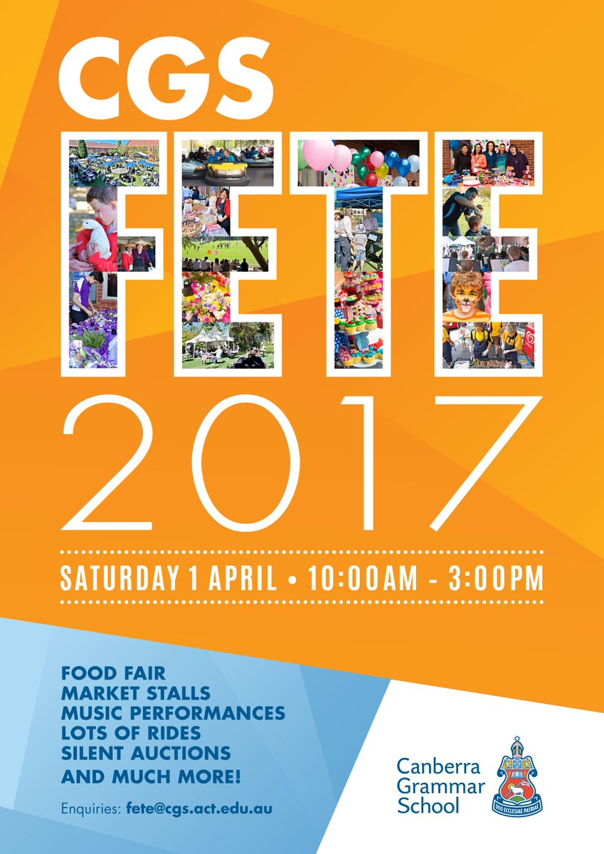 The 2017 CGS Fete is being held this Saturday. Don't miss out on an amazing day of community fun, rides, and food!
