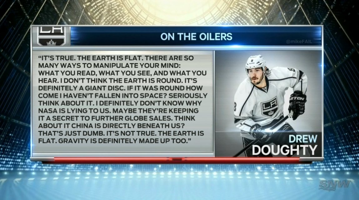 they asked doughty about the oilers and he starts going on about the e...