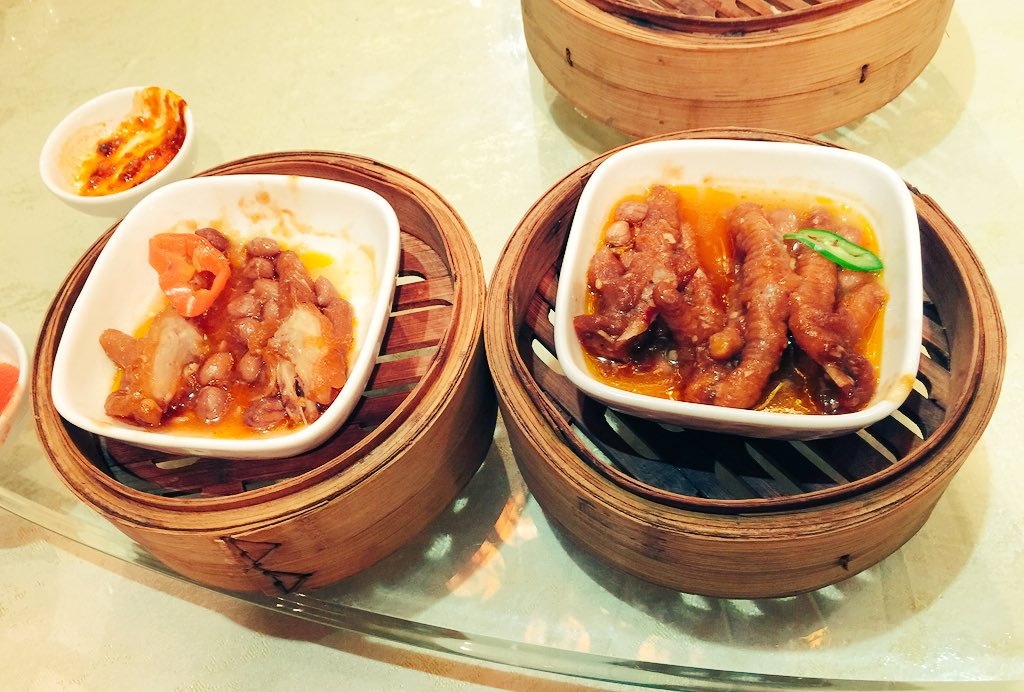 Obligatory chicken's feet at yum cha at the Wing Kwong Palace Restaurant in Zhongshan. #cahht17 https://t.co/ud9zokdUpA
