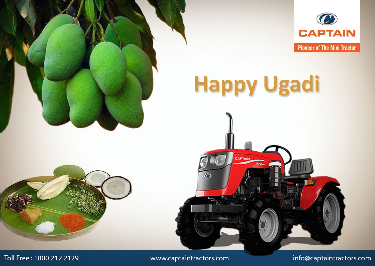 May this Ugadi bring you joy, health, wealth &amp; good luck through out the year!  #CaptainTractors #Ugadi #Festival #NewYear #Greetings<br>http://pic.twitter.com/cxmkC4XYPb