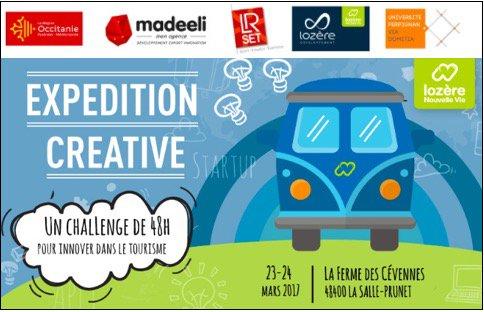 « Expédition Créative » en #Lozère : le premier hackathon du #tourisme distingue 4 projets d'étudiants  http://www. madeeli.fr/actualites/exp edition-creative-lozere-premier-hackathon-tourisme-distingue-4-projets-detudiants/ &nbsp; … <br>http://pic.twitter.com/3ELlZEVJM6