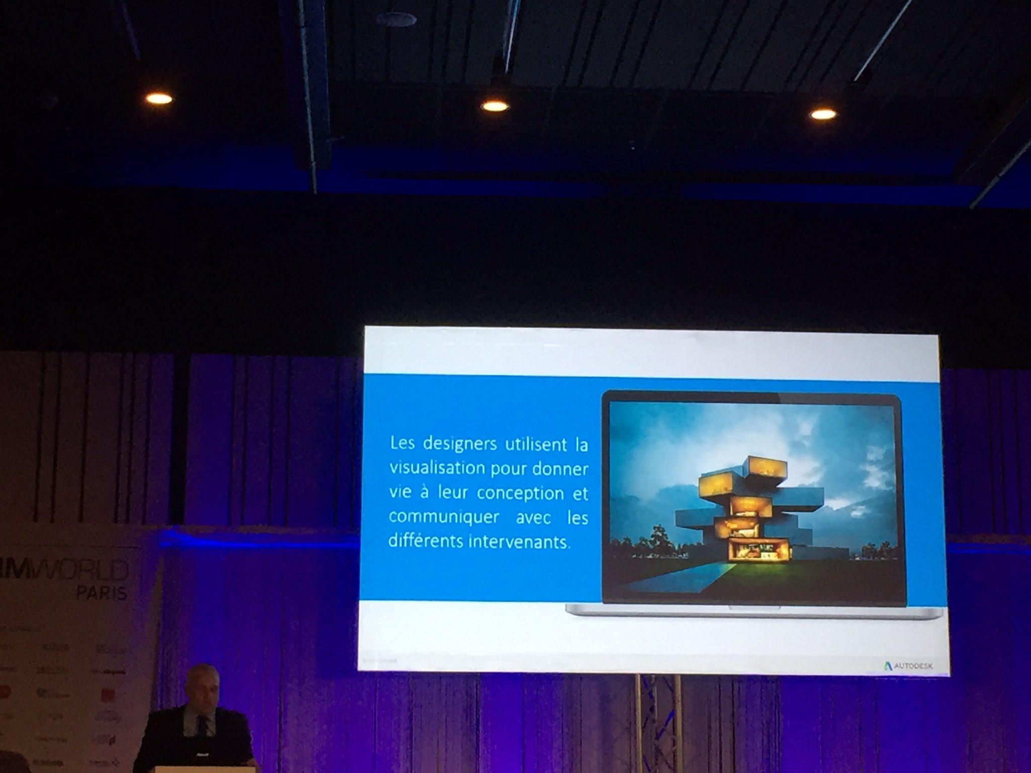 """#BIMworld """"le saviez-vous ? Autodesk est un des leaders mondial dans le domaine de la visualisation"""" @GwenaelBachelot https://t.co/ZW29aEKEAu"""