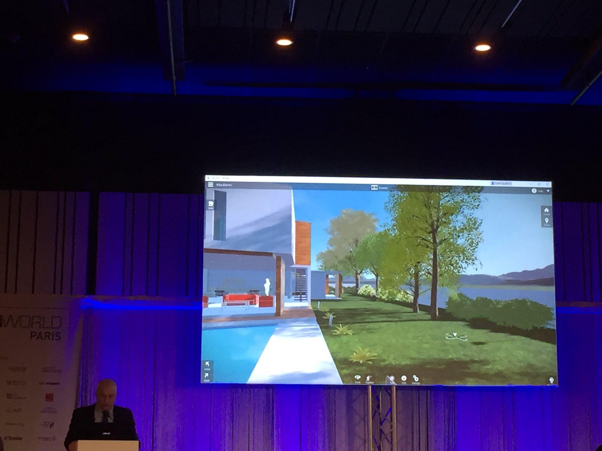 """#BIMworld """"on parle de technos de jeu vidéo pour interagir dans la maquette en temps réel"""" https://t.co/N2D8cRQQnh"""