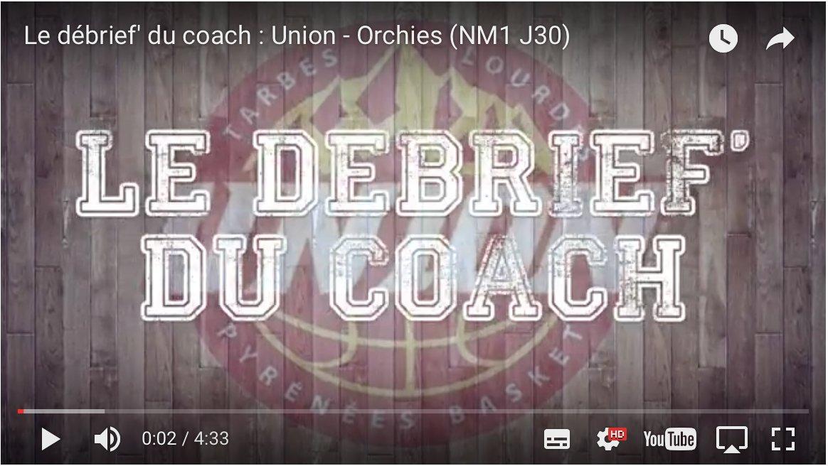 Le débrief du #coach après le #match VS @BCOrchiesSASP   http:// bit.ly/union-2kkNNbq  &nbsp;   #IciCEstLUnion #Tarbes #FFBB #NM1 #basketball<br>http://pic.twitter.com/xM6K2OGvfT