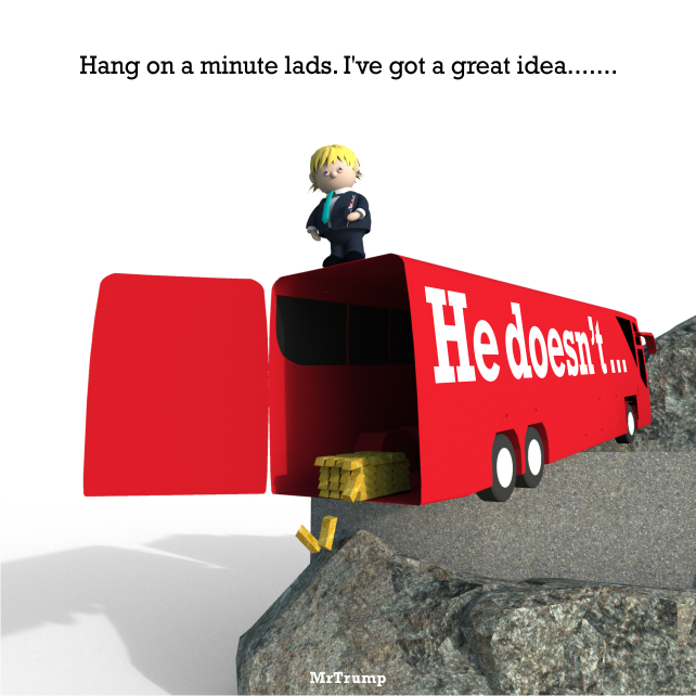 Hang on a minute lads. I\'ve got a great idea.......   #brexit #boris #italianJob #Article50   He doesn\'t ...