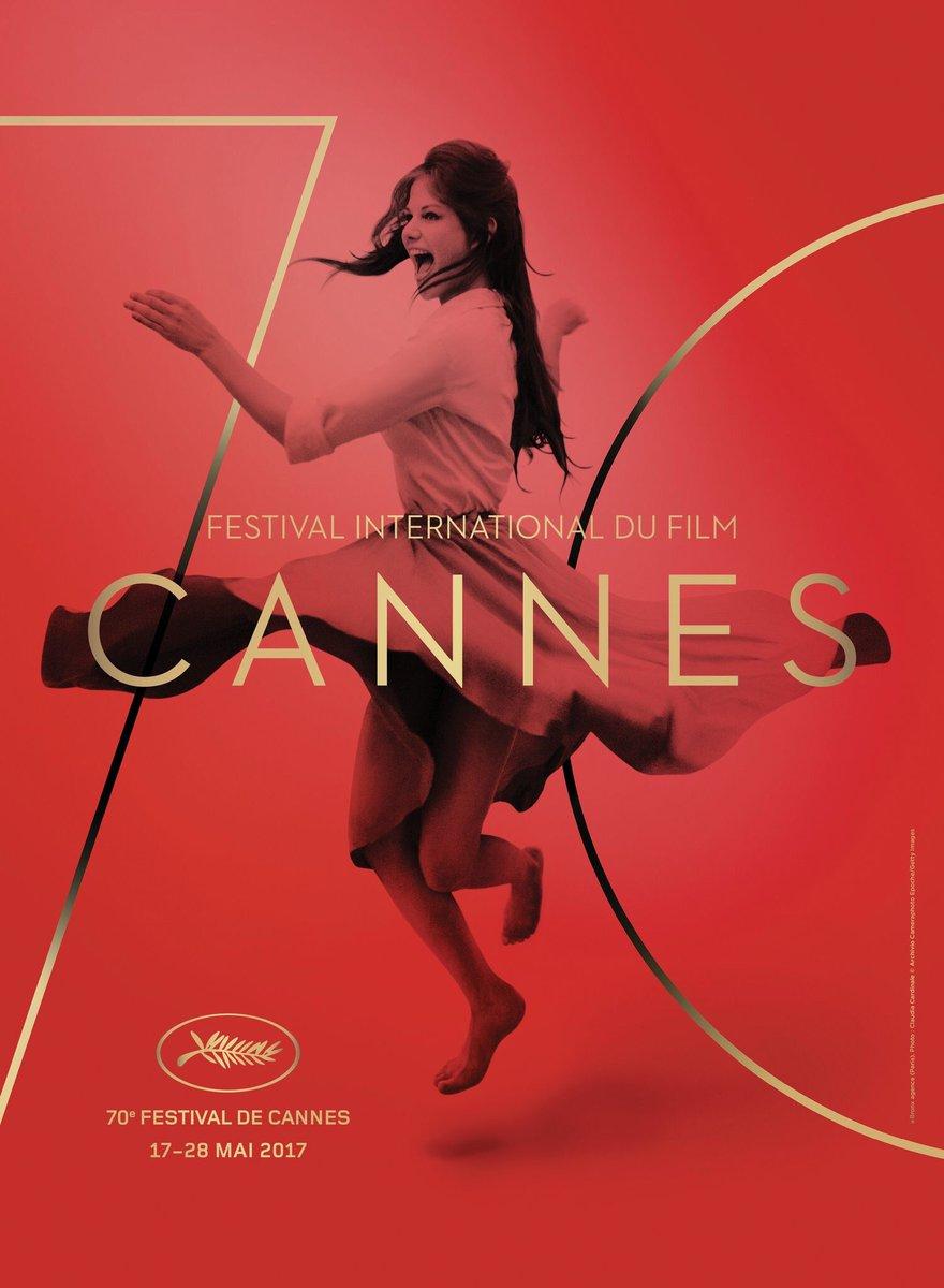 L'affiche du Festival de Cannes 2017, avec Claudia Cardinale. Via @BFM...