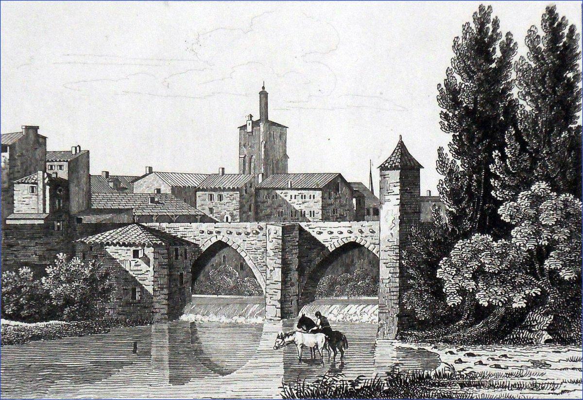 Vue de #MontdeMarsan vers 1835. Gravure de &quot;La France pittoresque&quot; d&#39;Abel Hugo #Histoire #Landes #Tourisme #Patrimoine #Gascogne<br>http://pic.twitter.com/c4PLM2Rnpw