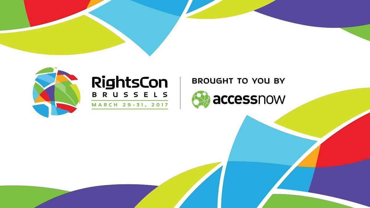 #RightsCon opening ceremony will begin shortly in Palace Ballroom I --...